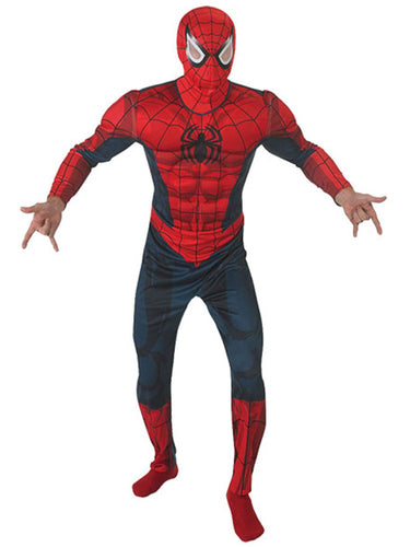 Deluxe Spiderman Costume - Mens Costume
