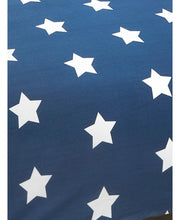 Load image into Gallery viewer, Navy Blue And White Stars Duvet Cover And Pillowcase Set - Kids Bedding
