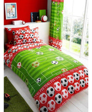 Load image into Gallery viewer, Goal Football Single Duvet Cover And Pillowcase Set - Soccer / Football Bedding