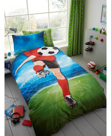 Footballer Selfie Single Duvet Cover And Pillowcase Set - Soccer / Football Bedding