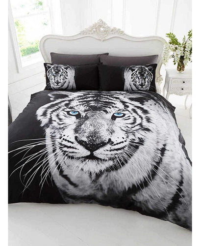 3D White Tiger Duvet Set - Tiger Duvet