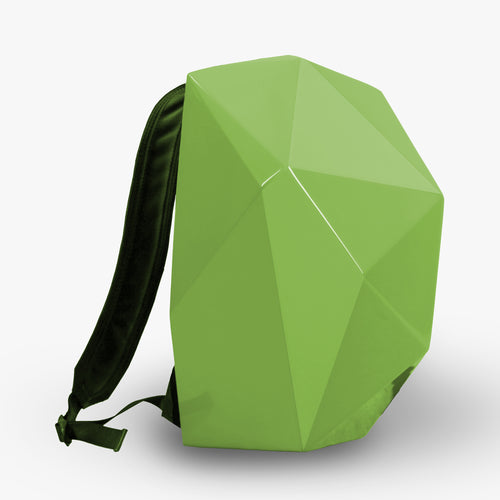 LEATHER BACKPACK WITH PANTONE GREENERY SHELL