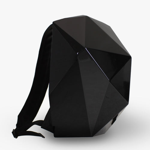Unique designer backpack with hardshell