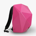 LEATHER BACKPACK WITH PINK SHELL