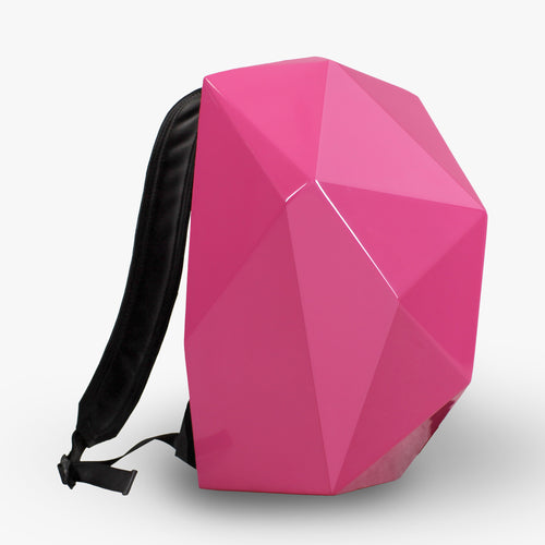 CLOTH BACKPACK WITH PINK SHELL