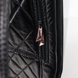 FACETED PINK LEATHER BACKPACK WITH SHELL