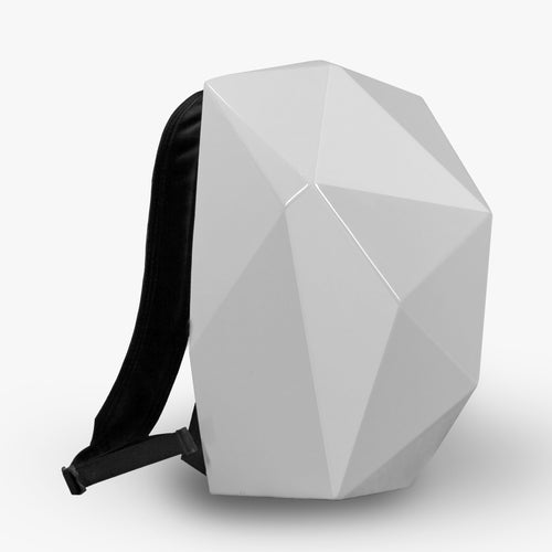 LEATHER BACKPACK WITH WHITE SHELL