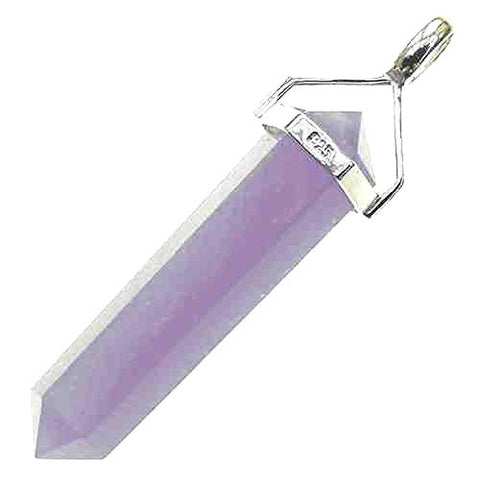 GeoFossils« Lepidolite Healing Crystal Pendant Sterling Silver with Chain