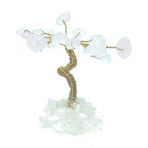 Mini Gemstone Tree - Rose Quartz