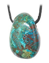 Chrysocolla Drilled Tumble Stone