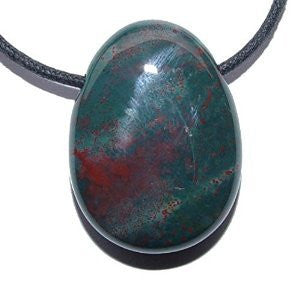 Bloodstone Drilled Tumble Stone