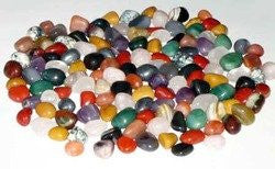 GeoFossils - 100g Assorted Tumblestones in Organza Pouch