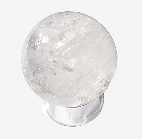 Crystal Ball - Sphere in Genuine Quartz crystal - 50mm diameter