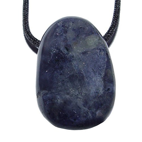 Iolite Drilled Tumble Stone