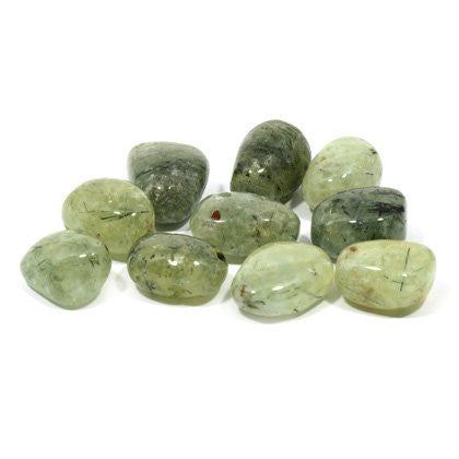 Epidote in Prehnite Tumble Stone (20-25mm) Single Stone