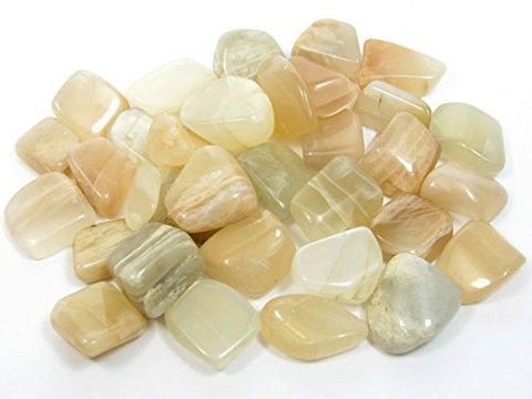 Cream Moonstone Tumble Stone 20-25mm