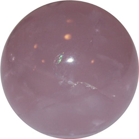 Crystal Ball - Sphere in Genuine Rose Quartz Crystal -50mm