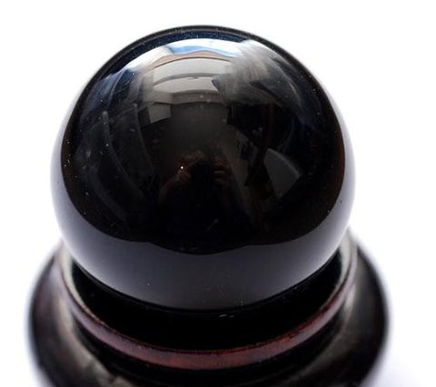 SCRYING SPHERE BLACK OBSIDIAN 40mm - Creativity, Scrying ,Power,Visions