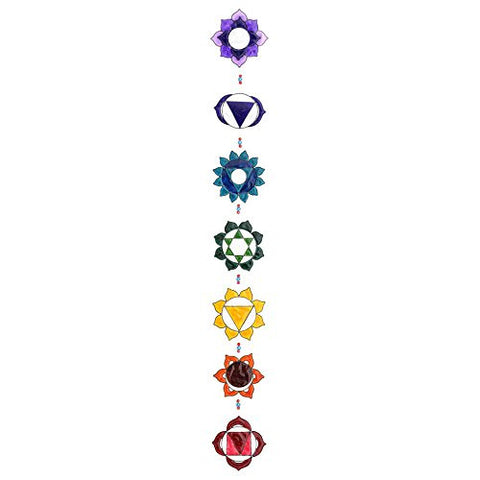 Chakra Suncatcher Stained Glass Effect - Fair Trade Product