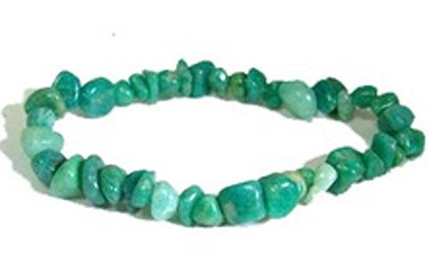Gem Chip Bracelet -Amazonite