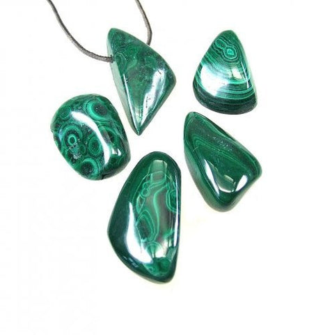 Malachite Drilled Tumble Stone