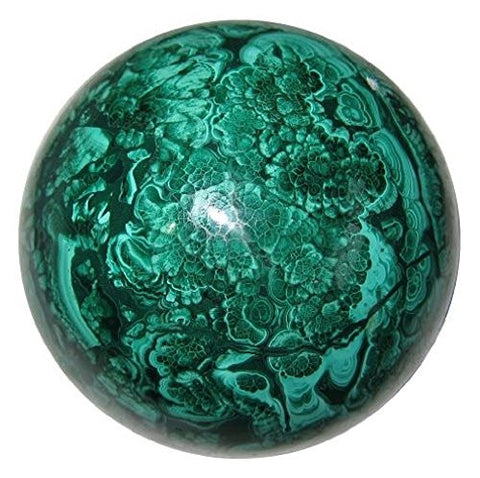 Malachite Crystal Ball - Sphere in Genuine crystal - 30mm