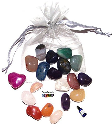 250g of Large Mixed Tumble Stones in an Organza Bag
