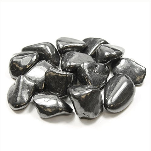 Shungite Drilled Tumble Stone