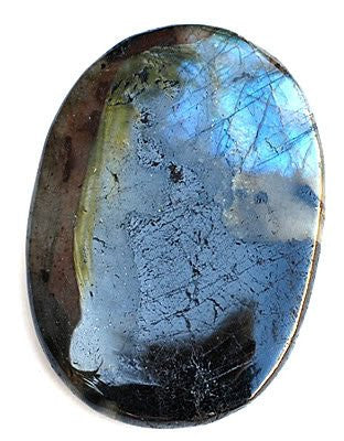 Labradorite Large Palm Stone - Aura Ascension Intuition