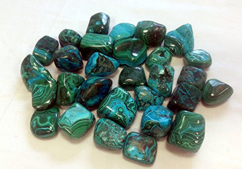 Malacolla (Malachite & Chrysocolla) Tumble Stone 30-40mm