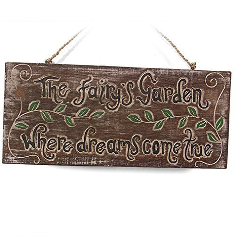 The Fairy's Garden Where Dreams Come True Wooden Plaque