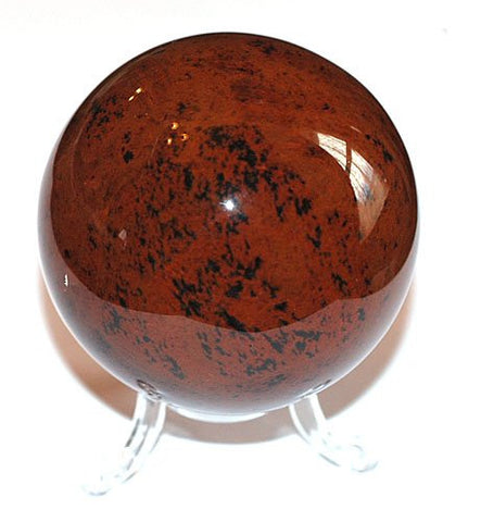 Crystal Ball - Sphere in Genuine Mahogany Obsidian crystal