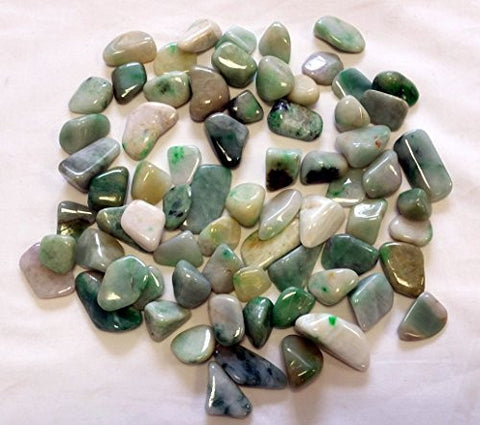 Burmese Jade Tumble Stone 20-25mm Single