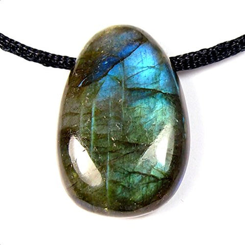 Labradorite Drilled Tumbled Stone
