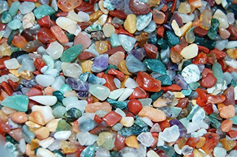 250g Gemstone Chips with Organza Bag (size XS)