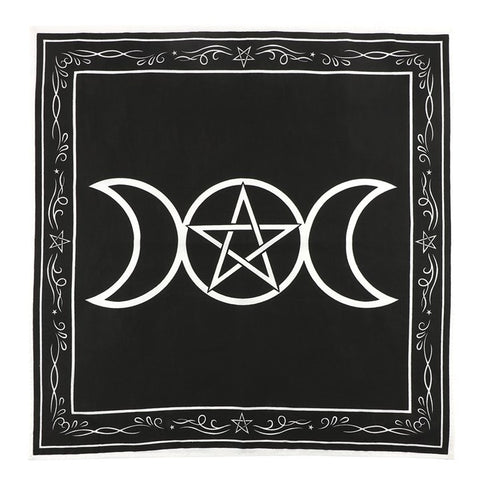 Triple Moon & Pentagram Altar Cloth