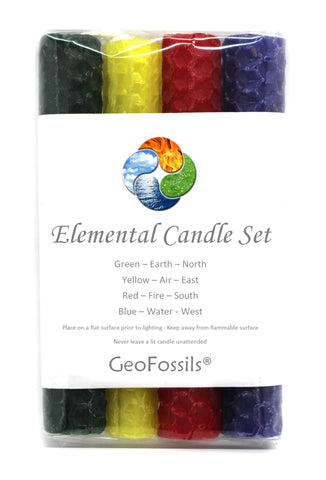 Elemental Beeswax Candle Set of Four