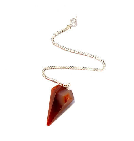 Faceted Carnelian Pendulum