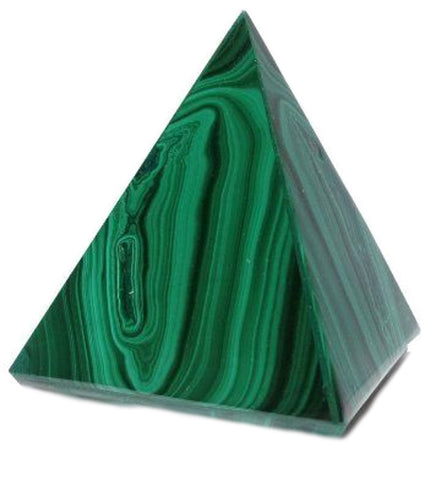 Malachite Crystal Pyramid 40mm