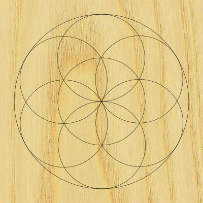 Sacred Geometry Wooden Crystal Grid Plate - Seed of Life