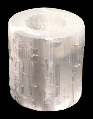 Selenite Polished Top Tealight  Holder