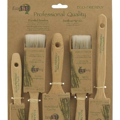 Eco Ezee 5 Paint Brush Multi Pack 1'', 2 x 1.5'', 2'', Angle Sash 1.5''