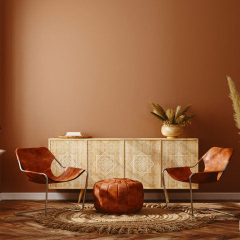 American tan No. 79 tan brown eco paint room colour