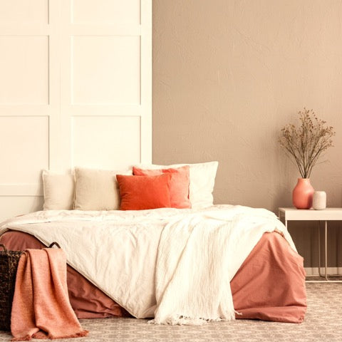 Madge No. 8 Beige Eco Paint Bed Room