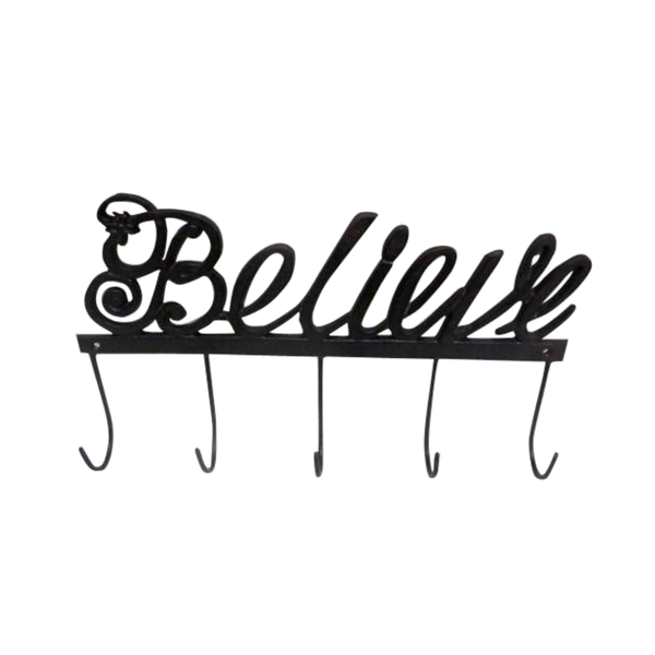 Cast Iron Believe Wall Hooks