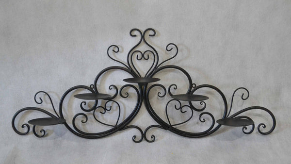 WALL DECOR CANDLE HOLDER 74x12x31cm