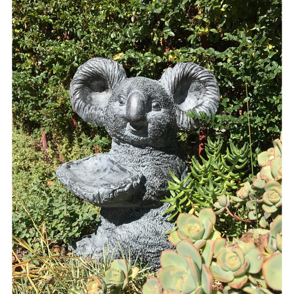 Statue - Koala Holding a Tray in the garden
