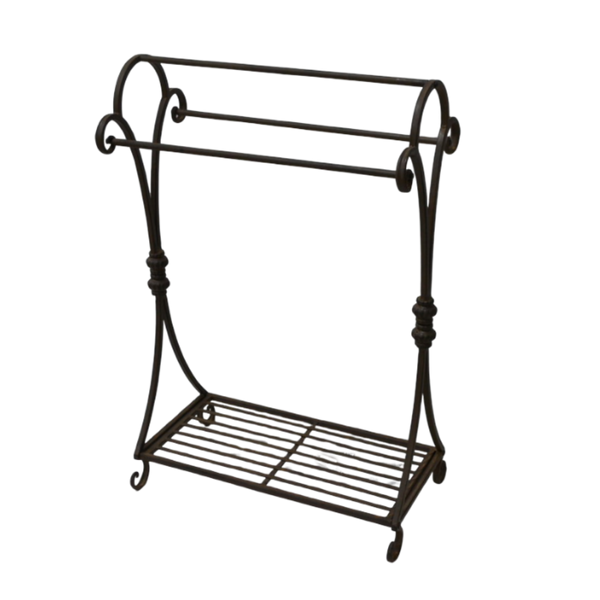 Towel Rail Stand Rack Metal Rust 60x32x90cm