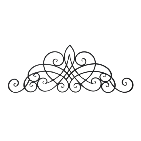 Metal Abstract Wall Decor - Decorative Antique Dark Brown