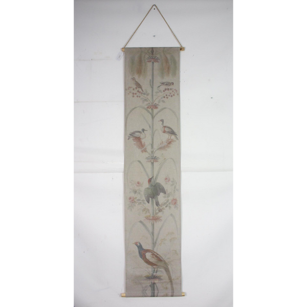 Wall Hanging Scroll, Print on Fabric Unique Vintage Pheasant Birdlife